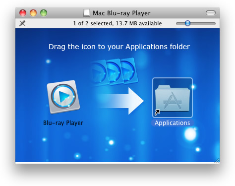 Mac Blu-ray Playerインストール